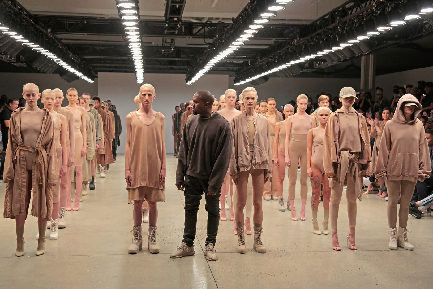 Kanye West finale of Yeezy Season 2 New York Fashion Week